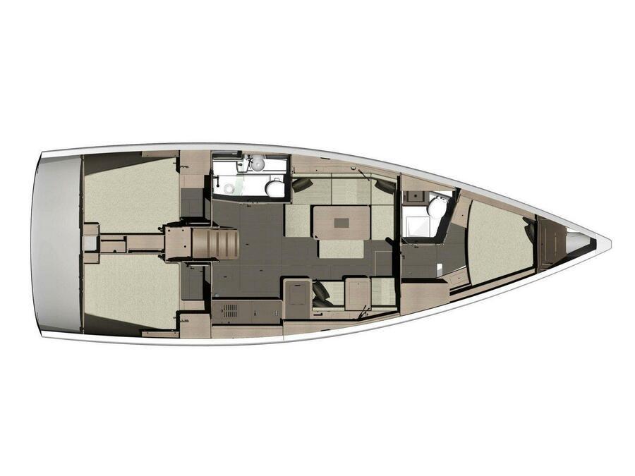 Dufour 412 Grand large (Wanderlust) Plan image - 2