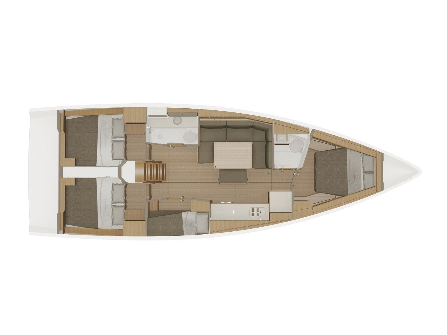 Dufour 430 Grand Large (Hermione) Plan image - 1