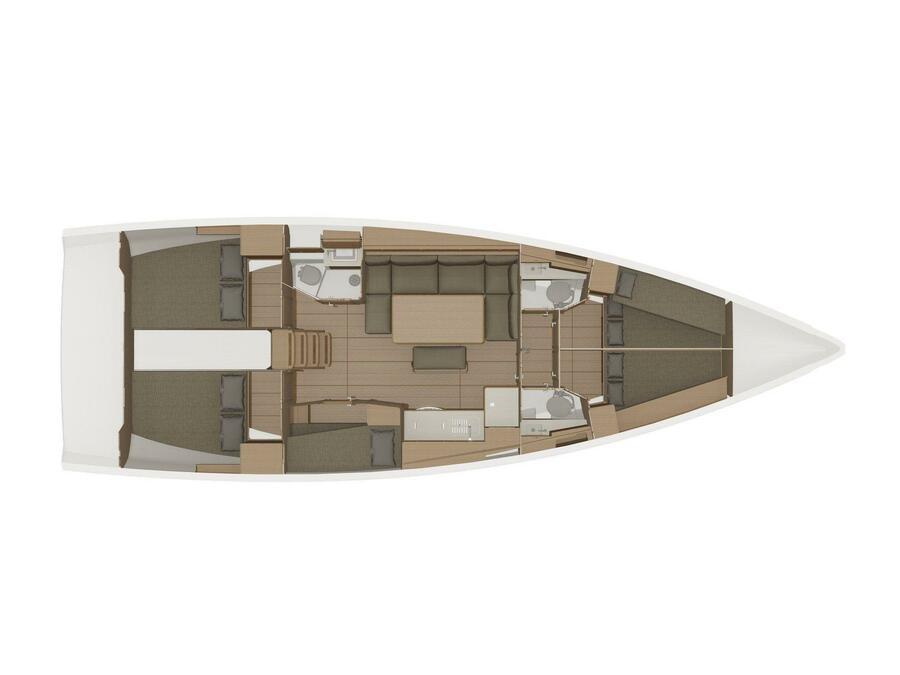 Dufour 460 Grand Large 5Cab (Abraxan) Plan image - 3