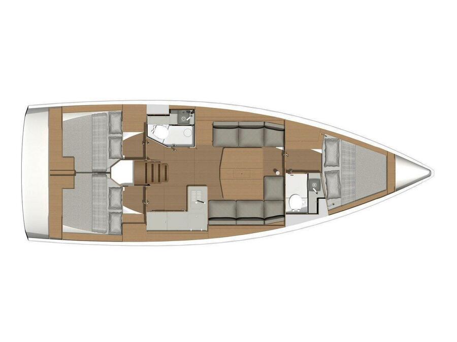 Dufour 390 Grand Large (Molesta) Plan image - 12