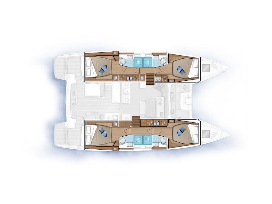 Lagoon 46 (NANDINI  (WITH AC&GENERATOR)) Plan image - 1