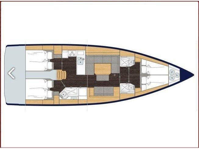 Bavaria C45 Style (Katharina) Plan image - 1