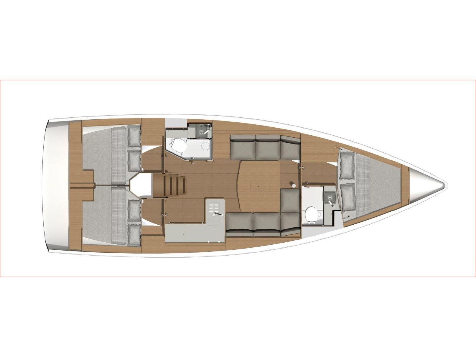 Dufour 390 Grand Large (NN4) Plan image - 4