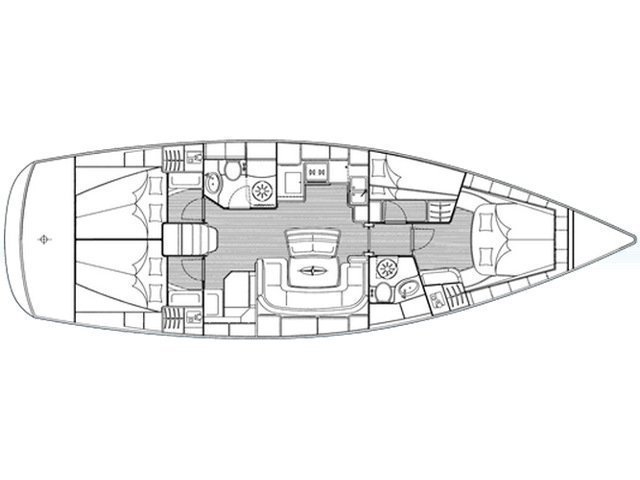 Bavaria 46 Cruiser (Paris) Plan image - 4