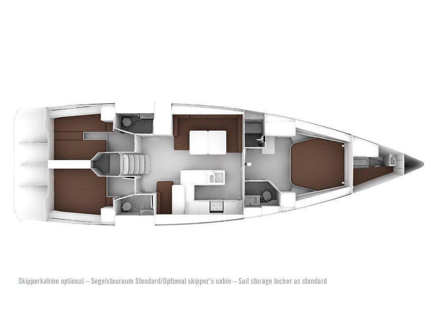 Bavaria Cruiser 56/ 3 cabins (Beising) Plan image - 1