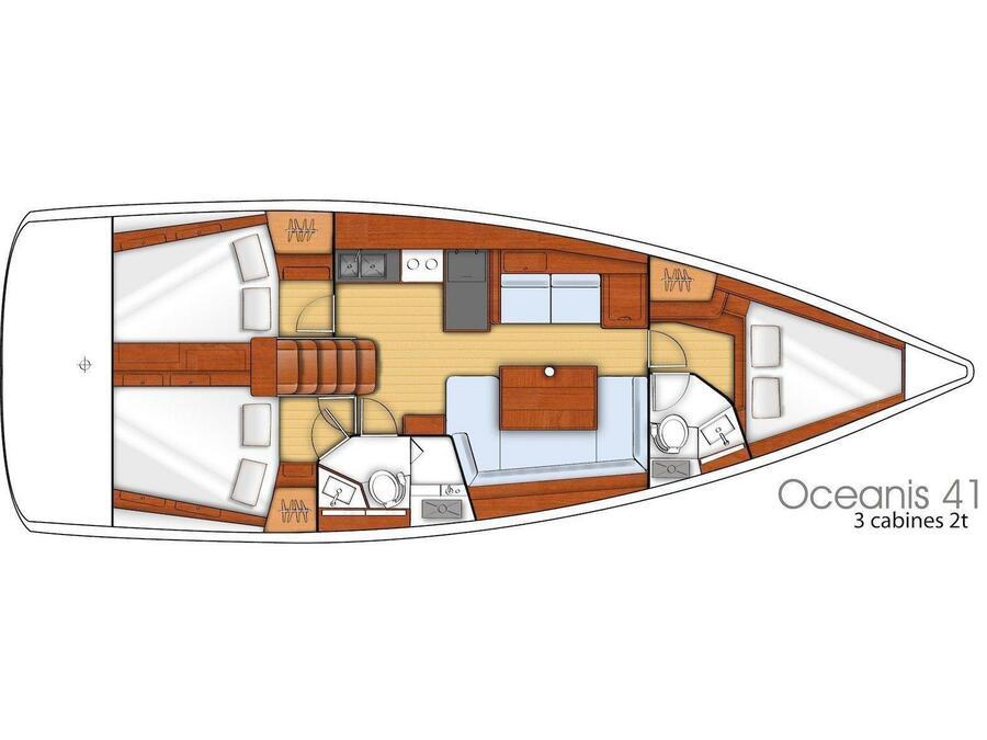 Oceanis 41 (Katalina) Plan image - 3