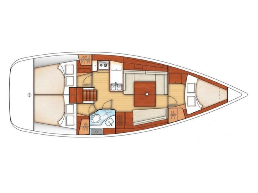 Oceanis 37 (MINA) Plan image - 2