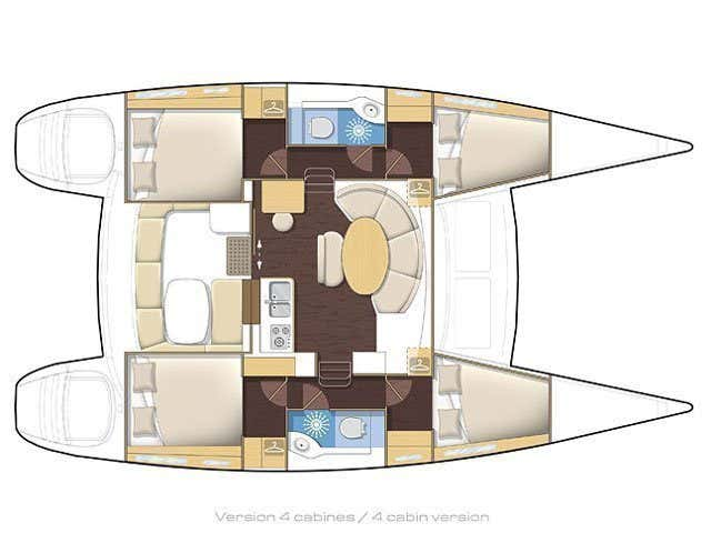 Lagoon 380 (Eftychia 5) Plan image - 4