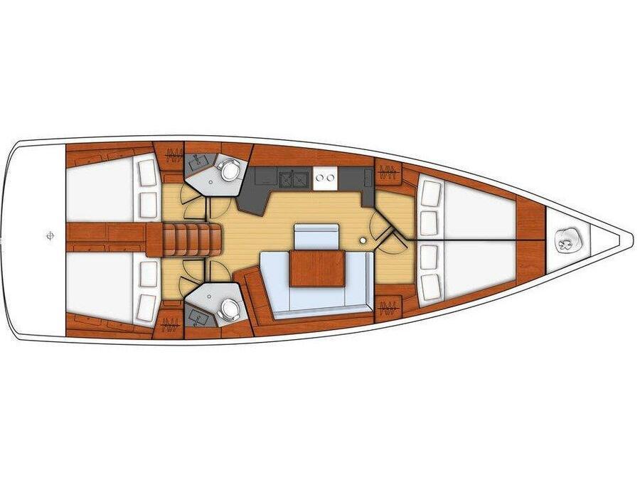 Oceanis 45-4 (Alboran Gin Fizz (Majorca)) Plan image - 1