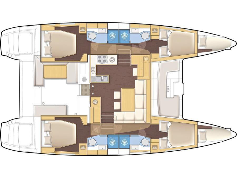 Lagoon 450 (MAJESTIC) Plan image - 2