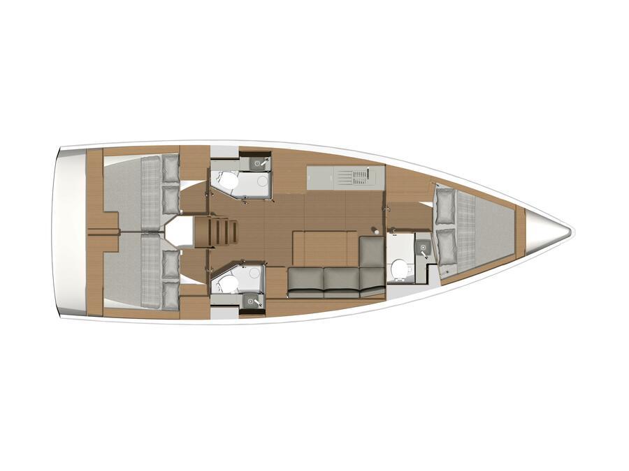 Dufour 390 Grand Large (Fluid II) Plan image - 1