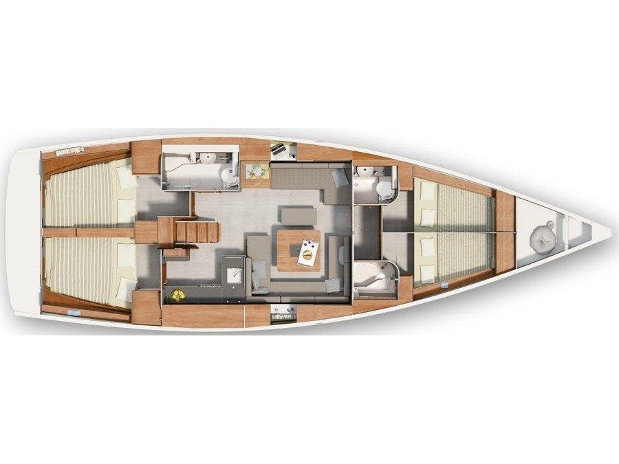 Hanse 455 (Aurum I) Plan image - 1