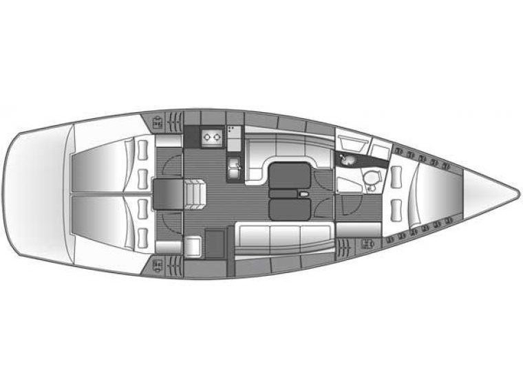 Bavaria 38 Cruiser ((1132 BG) (sails 2015)) Plan image - 2