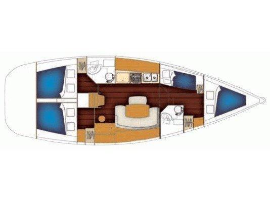 Benetau Cyclades 43,4 (ATHENA ) Plan image - 1