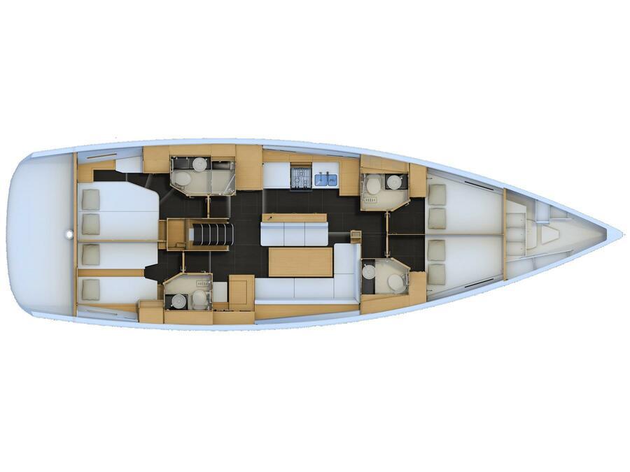 Jeanneau 54 (Cappuccino Due) Plan image - 21