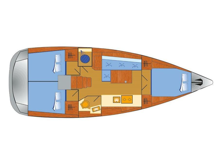 Oceanis 38.1 (Maja) Plan image - 1