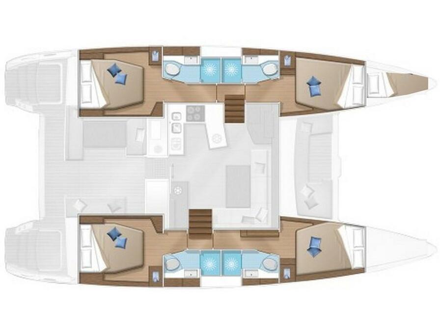 Lagoon 450F (Big Dream) Plan image - 6
