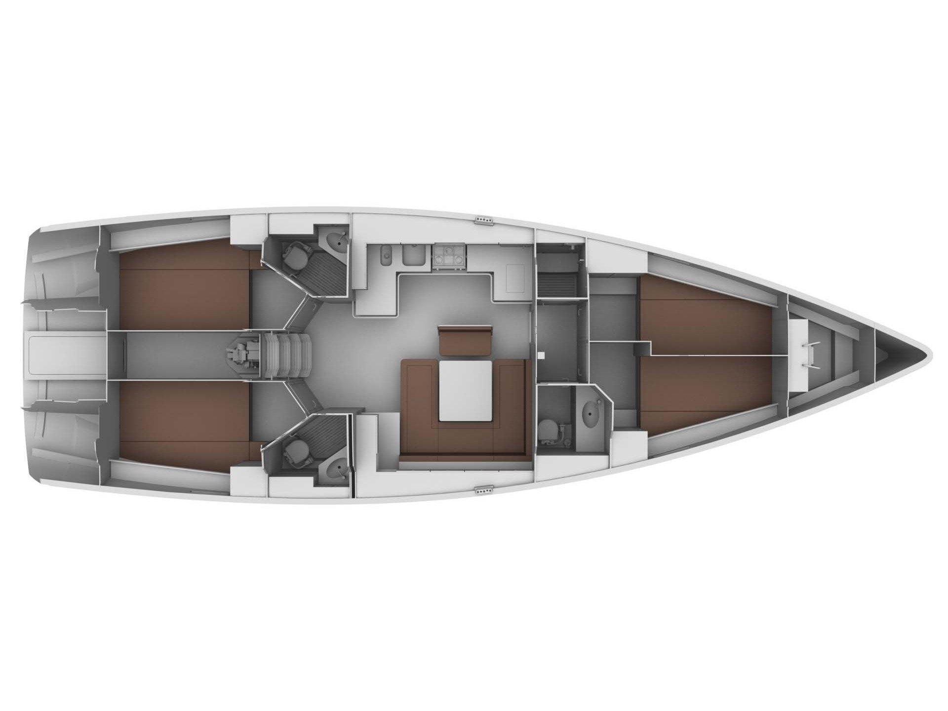 Bavaria Cruiser 45 (Destiny) Plan image - 2