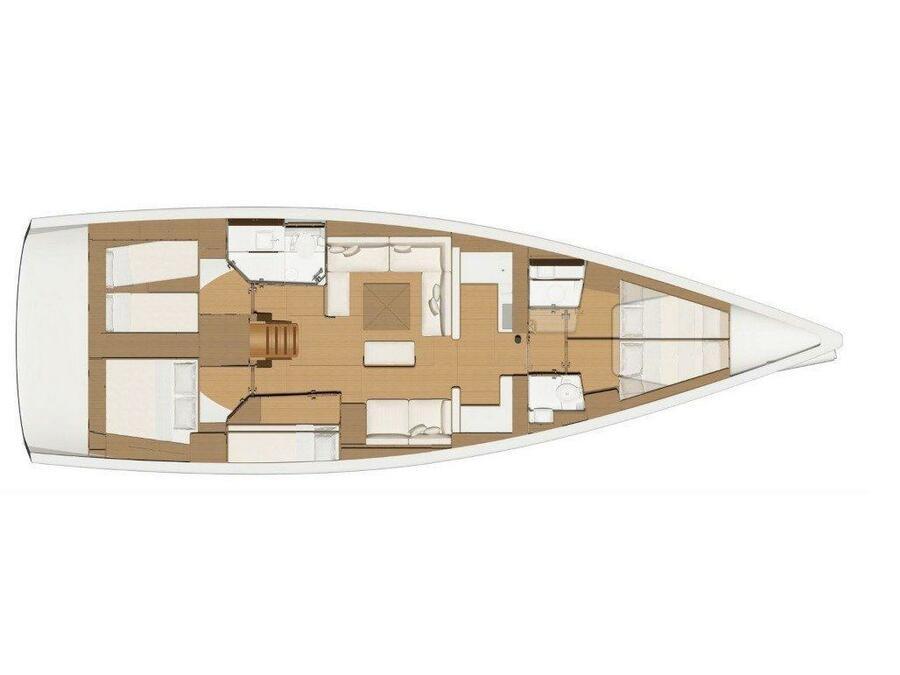 Dufour 520 GL (Greenleaf) Plan image - 13