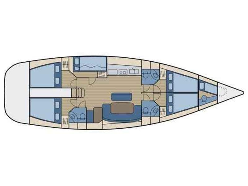 Beneteau Cyclades 50.5 (Voreas - A/C & Generator) Interior image - 6
