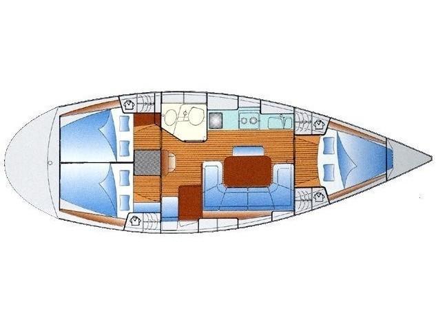 Bavaria 37 (Corali - Refit 2019) Plan image - 1