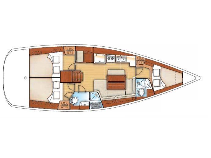 Oceanis 40 (Game - Refit 2020) Plan image - 1