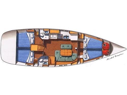 Oceanis 473 (Poker star - Refit 2020) Plan image - 2