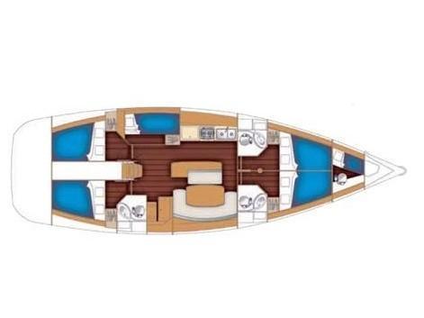 Cyclades 50.5 (Joker (A/C - Generator - Refit 2020)) Plan image - 1