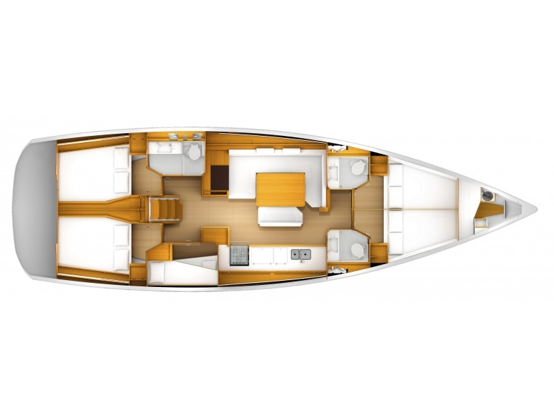 Sun Odyssey 509 (King of hearts - (A/C - Generator - Refit 2020)) Plan image - 3