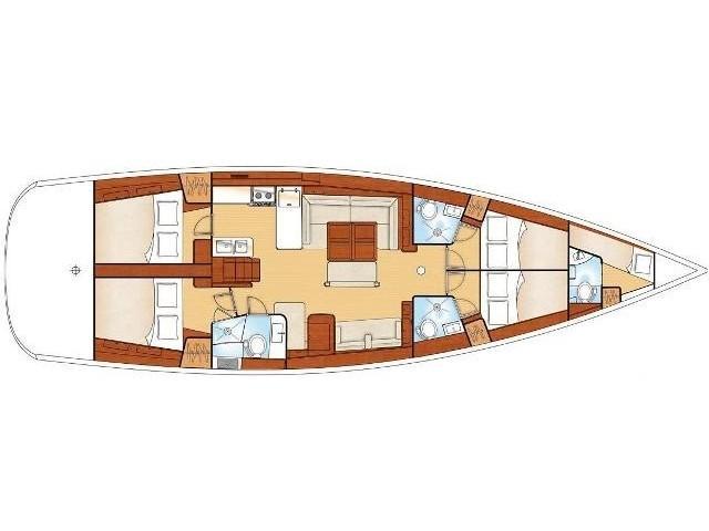 Oceanis 54 (Blackjack - (A/C - Generator - Refit 2020)) Plan image - 10