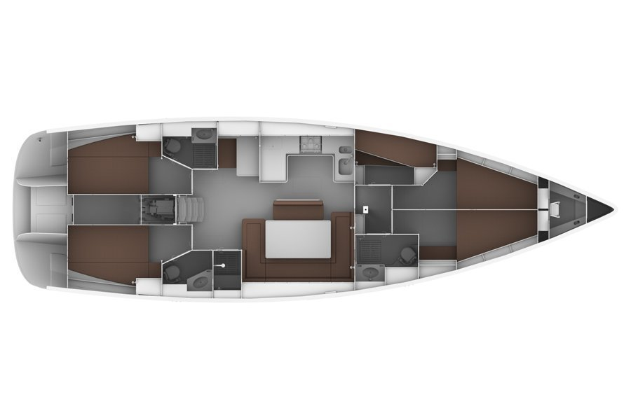 Bavaria 50 BT '12 (Bach) Plan image - 1
