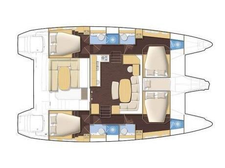 Lagoon 420 (Vegas  - (A/C - Generator - Refit 2020)) Plan image - 4