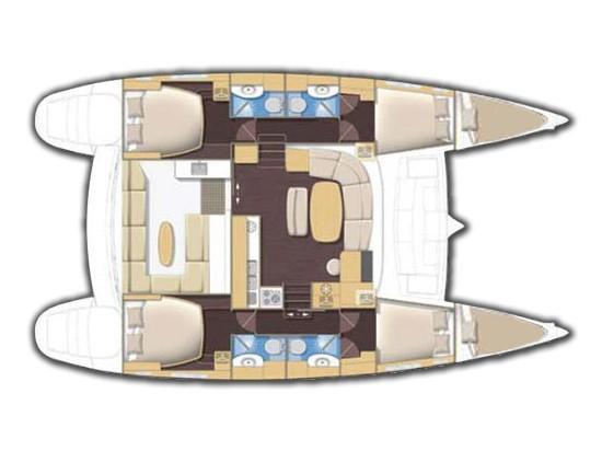 Lagoon 440 (Casino (A/C) - (A/C - Generator - Refit 2020)) Plan image - 6
