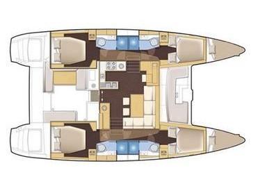 Lagoon 450 (Poker Face  - (A/C - Generator - Refit 2020)) Plan image - 3