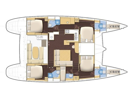 Lagoon 500 (Casino Royale - (A/C - Generator - Refit 2021)) Plan image - 1
