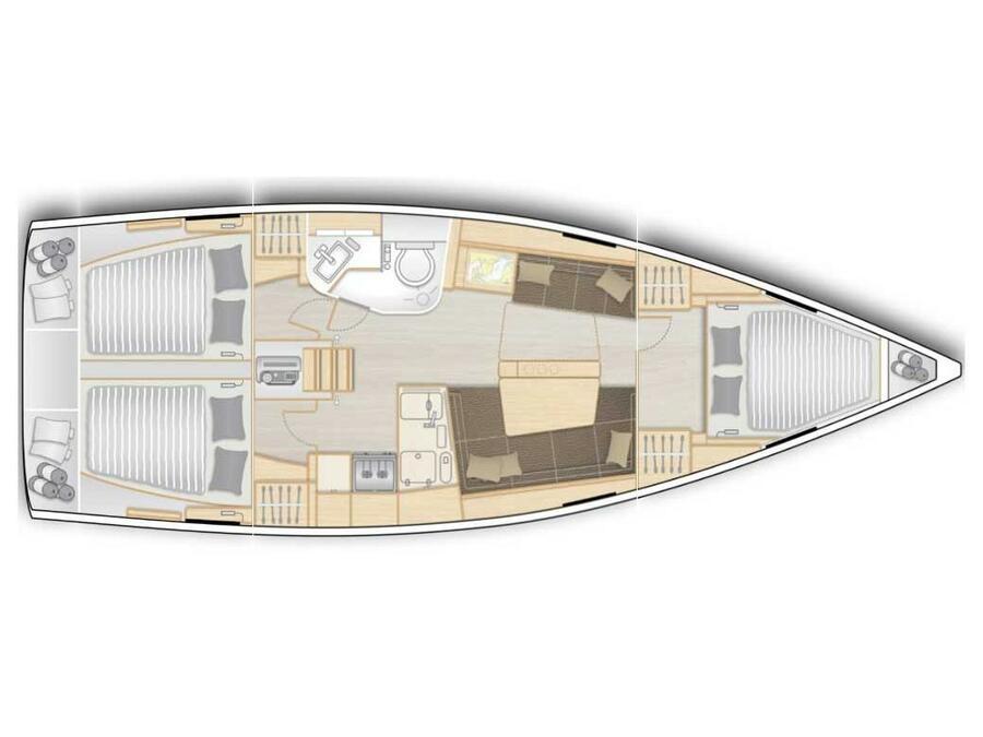 Hanse 388 (Kukele) Plan image - 1