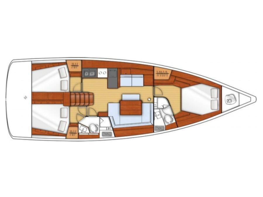 Oceanis 45 (2018) (Hande) Plan image - 36