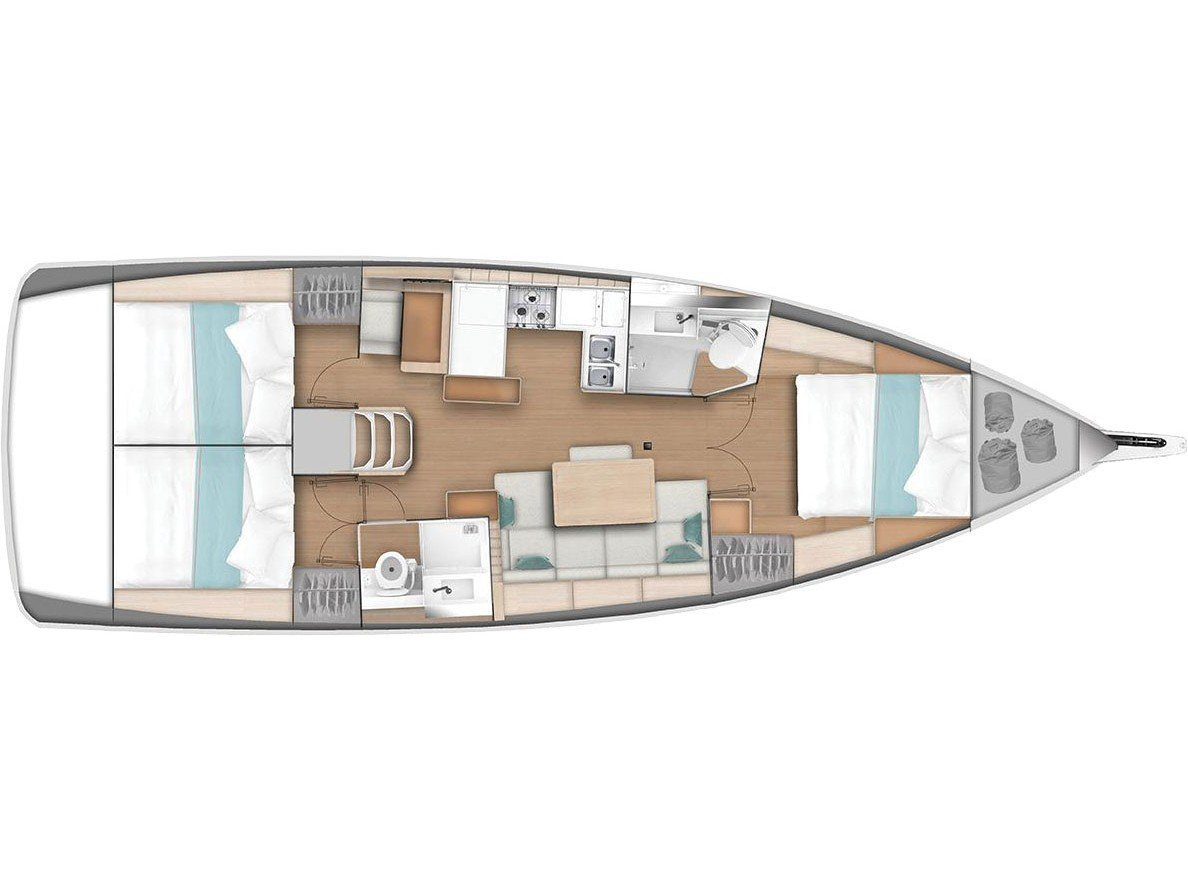Sun Odyssey 440 (Celtic Breeze) Plan image - 9