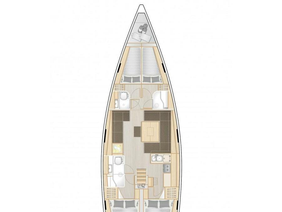 Hanse 458 (Bea) Plan image - 2
