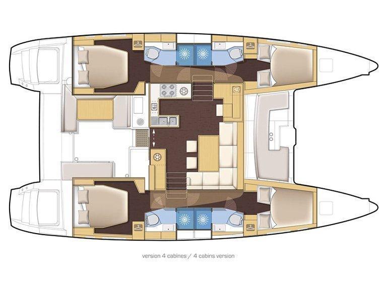 Lagoon 450 (Mia) Plan image - 10