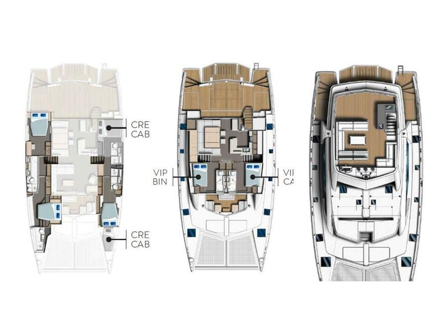 Leopard 58 Crewed (Between BE [C]) Plan image - 2
