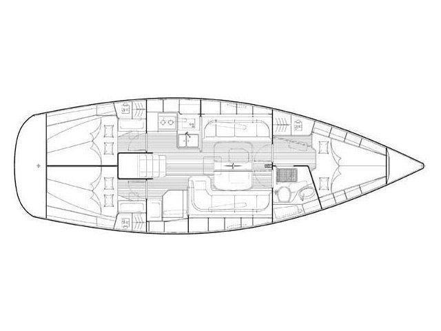 Bavaria 38 cruiser (Alegria) Plan image - 1