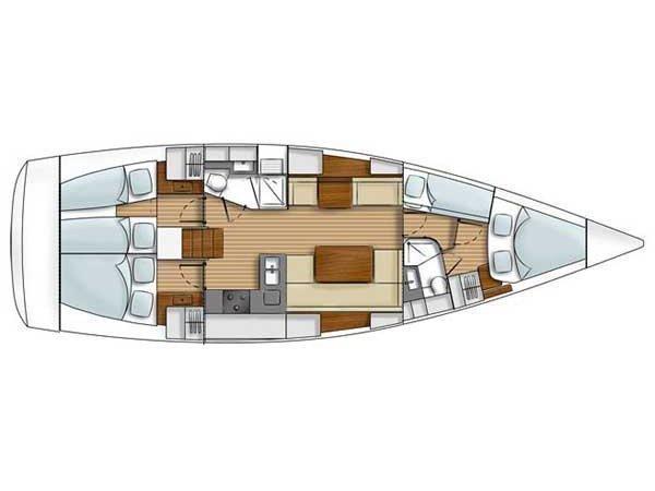 Cyclades 43.4 (Zdenka  ) Plan image - 4