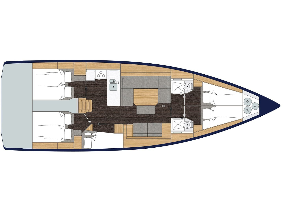 Bavaria C45 (5 cbs) (BavC45-19 (5 cbs)) Plan image - 1