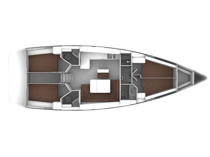 Bavaria 46 Cruiser (Sunrise) Plan image - 1
