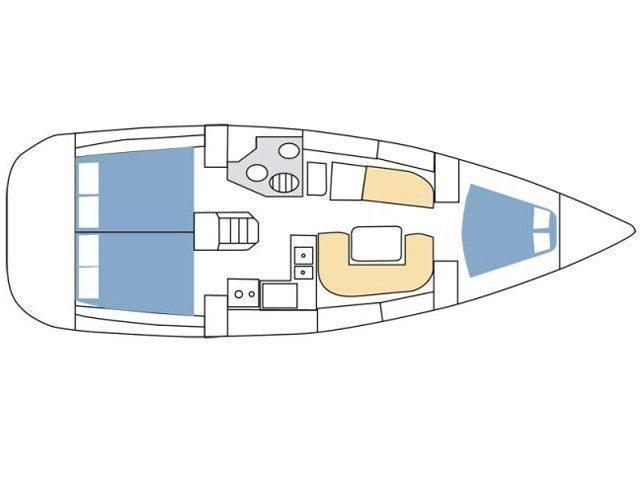 Sun Odyssey 36i (Muad'dib) Plan image - 2