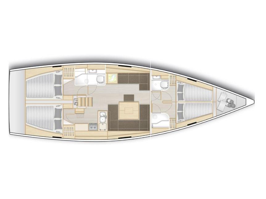 Hanse 458 (Arctic Whisper) Plan image - 1