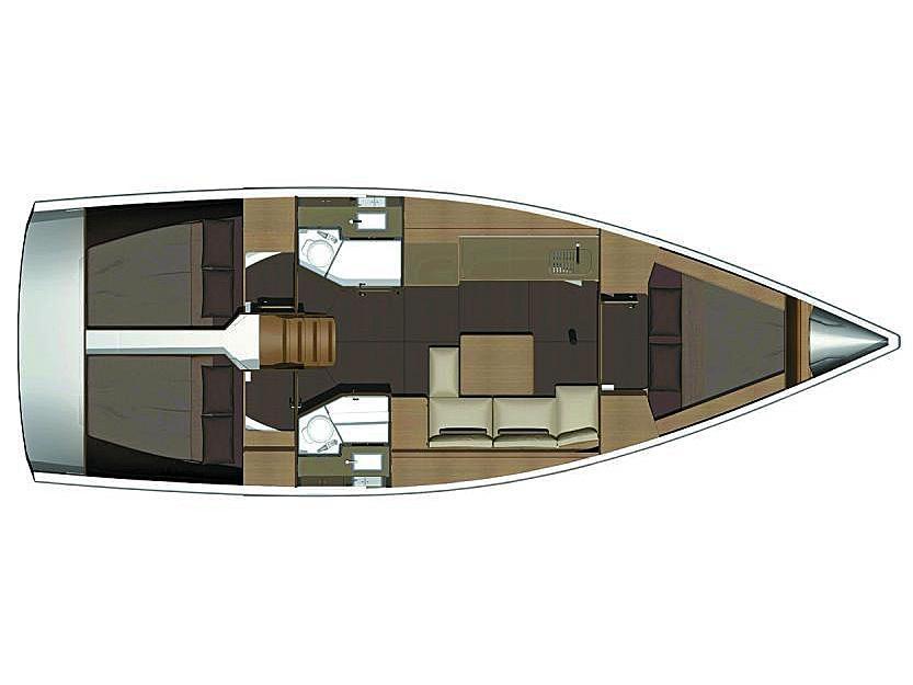 Dufour 382 GL (D382-15-V) Plan image - 1