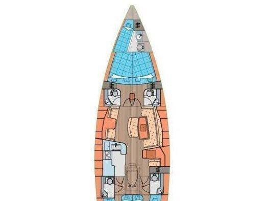 Elan 514 Impression (Lenka (sails 2015)) Plan image - 1