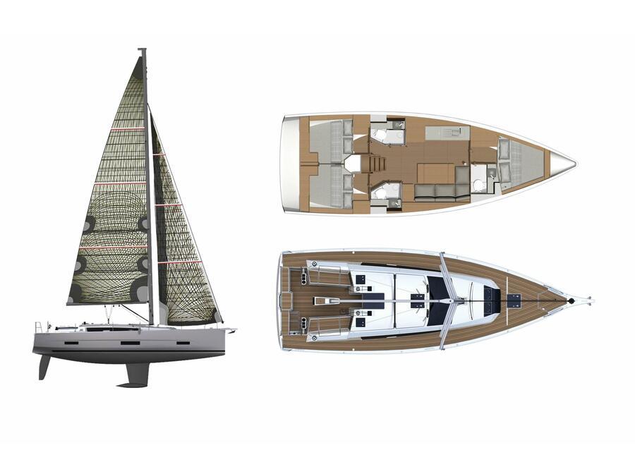 Dufour 390 Grand Large (Barracuda) Plan image - 13